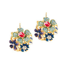 cool earring cool multi pastel flower eurowire earring kennethjaylane