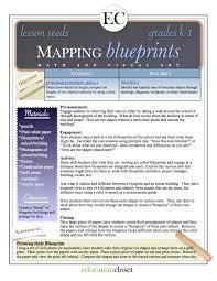 blueprint math arts integration lesson mapping blueprints educationcloset