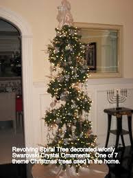spiral revolving christmas w all swarovski crystal ornaments in