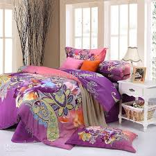Purple Paisley Comforter Wholesale Elegant Queen King Size Bedding Set Purple Phoenix