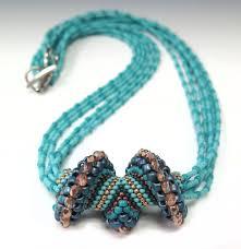 jewel wave crest necklace beads tutorial strand