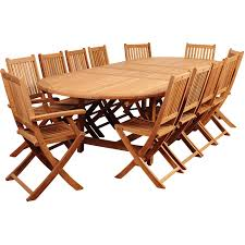 Teak Patio Dining Table Amazonia Highland Park Person Teak Patio Dining Set With Pictures