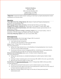 Resume Internship Objective Internship Resume Samples For Internship