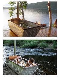 Wood Fired Bathtub Wood Fired Bath Tub Is Perfect For Outdoor Bathing
