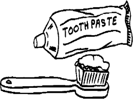 coloring page outline of cartoon with toothbrush coloring