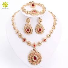 bridal earrings bracelet sets images Bridal jewelry sets high quality gold color jewelry set trendy jpg