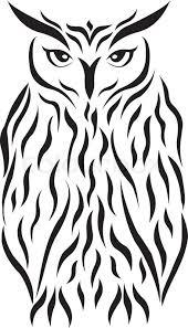 tribal eagle owl tattoo eagle owl stock vector colourbox