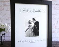 personalized wedding autograph frame wedding photo mat etsy