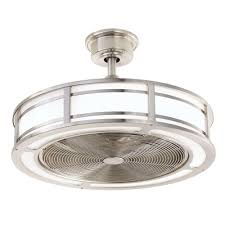 brette 23 in led indoor outdoor brushed nickel ceiling fan