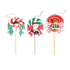 new snowman elk santa claus pattern soft lollipop