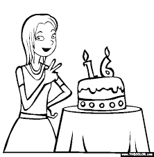 birthday coloring pages 1