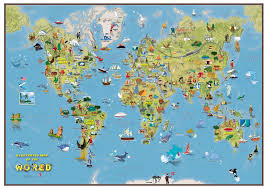 Great Britain On World Map by Mapsherpa Maps International