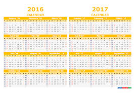 2016 2017 calendar with week numbers pdf image template yellow
