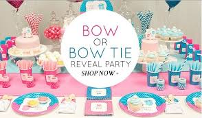 baby shower gender reveal gender reveal baby shower idea bow or bow tie reveal party