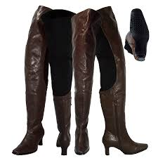 womens boots canada wide calf peearge lb7060 thigh high boots brown leather peerage