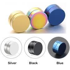 magnetic earrings 2018 black stainless titanium steel magnetic clip on black
