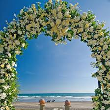 flower arch flower arch green white bali wedding packages