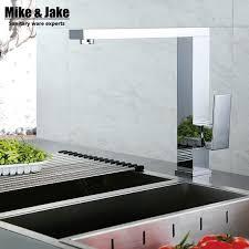 cuisine carré 360 rotation chrome carré cuisine robinets carré en laiton évier