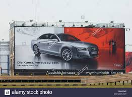 audi germany advertising the new audi a8 on billboard berlin germany stock