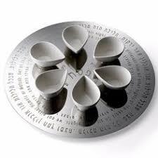 modern seder plate aluminum silver seder plate by cowan passover judaica