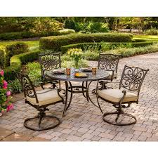 Best Price Cast Aluminum Patio Furniture - hanover traditions 5 piece patio outdoor dining set with 4