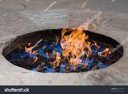 Fire Pit Crystals - ornamental fire pit lava rocks crystals stock photo 46912579