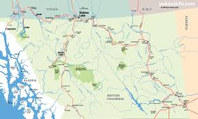 Southeast Alaska Map Southern Yukon U0026 Northern British Columbia Map
