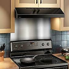 white kitchen cabinets with stainless steel backsplash details about broan sp3604 backsplash range wall shield 24 x 36 stainless steel