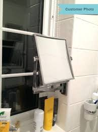 bathroom shaving mirrors wall mounted extendable mirror bathroom extendable square wall mounted vanity