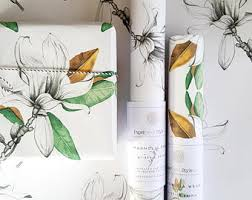 botanical wrapping paper protea green gift wrap wrapping paper botanical