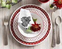 Corelle 76 Piece Dinnerware Set Amazon Com Corelle Livingware 74 Piece Crimson Trellis Dinnerware