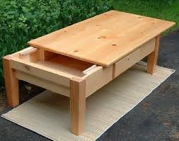 sliding top coffee table pine top coffee table with sliding top reveals a hidden storage