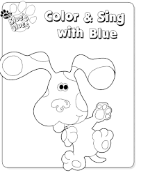 kids fun 15 coloring pages blues clues
