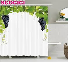 Grapes And Wine Home Decor Font Grapes Home Decor Shower Curtain Wine Leaf Kitchen Curtains