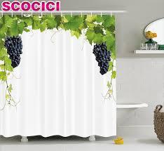 font grapes home decor shower curtain wine leaf kitchen curtains