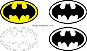 batman logo symbol silhouette stencil vector freepaternsarea