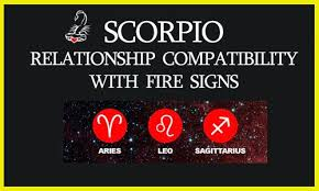 scorpio with fire signs compatibility aries leo sagittarius
