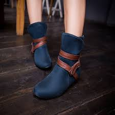 womens boots navy blue leather boots navy blue shoe models 2017 photo