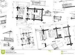 drawing floor plans by hand hand drawing sketches background stock illustration image 56017172
