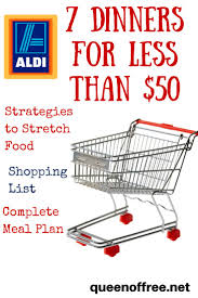 aldi meal plan 7 dinners for less than 50 aldi meal plan