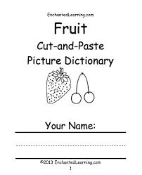 food theme page at enchantedlearning com