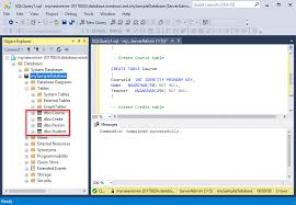 sql server create table primary key tutorial design your first azure sql database using ssms