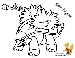 turtwig coloring pages 389 pokemon torterra picture at book for