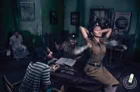 janet deodorant print advert by leo burnett police woman ads of