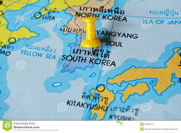 Map Of South Korea Map Of South Korea Royalty Free Stock Photos Image 830448