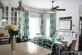 diy kitchen curtain ideas a black white and turquoise diy kitchen design with ikea cabinets