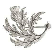 scottish silver thistle brooch shetland jewellery hsh038 b992