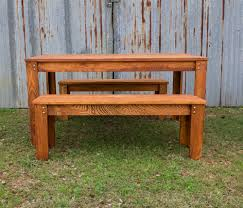 carencro style outdoor table w benches