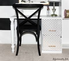 Diy File Cabinet Desk Diy File Cabinet Desk Refashionably Late