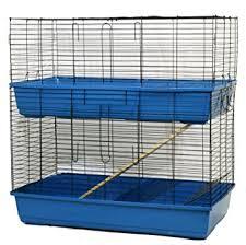 Indoor Hutch 2 Tier Rabbit Cage Guinea Pig Hutch Indoor Pet Small Animal House